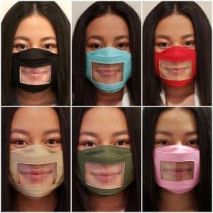 anti fog clear face mask